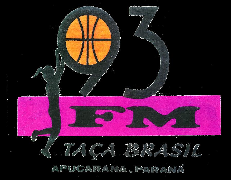 Logomarca especial feita para a 'Taça Brasil de Basquete Feminino', realizada em Apucarana.